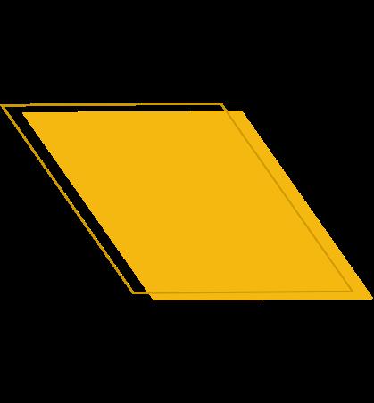 Yellow geometric shape
