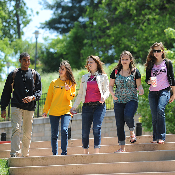 TU students on campus