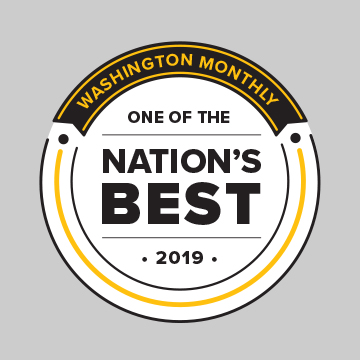 Washington Monthly: One of the Nation's Best 2018