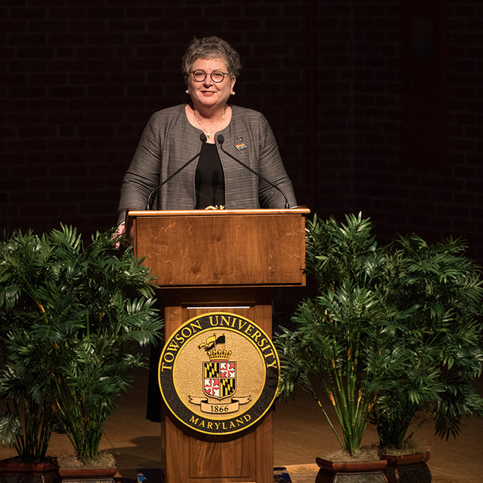 President Schatzel presents her fall address