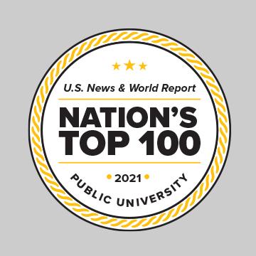 U.S. News & World Report Badge: Among the Region's Best Public Universities 2020