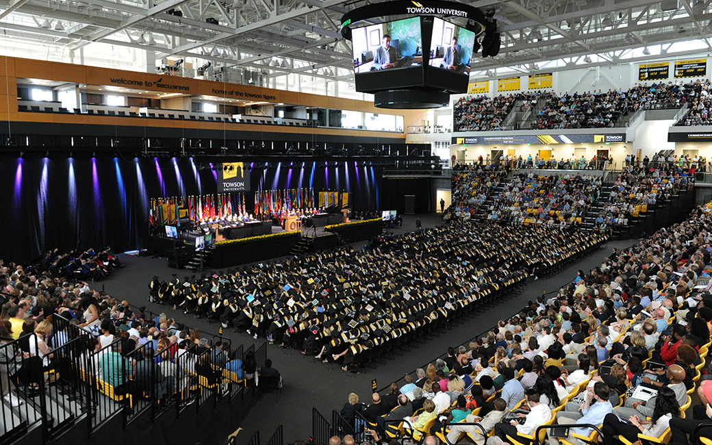 wide shot of commencement