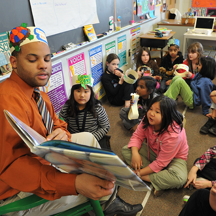 student teaching in elementary school classroom