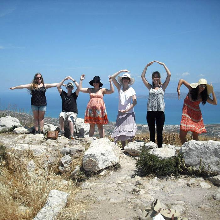 Student group in Greece