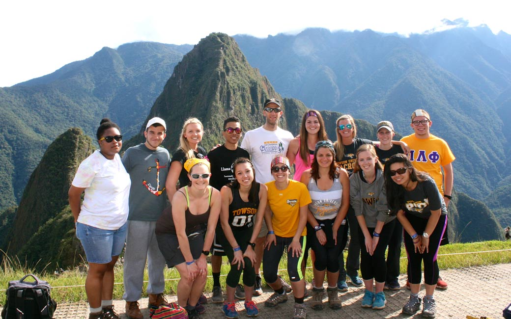Student group at Macchu Picchu