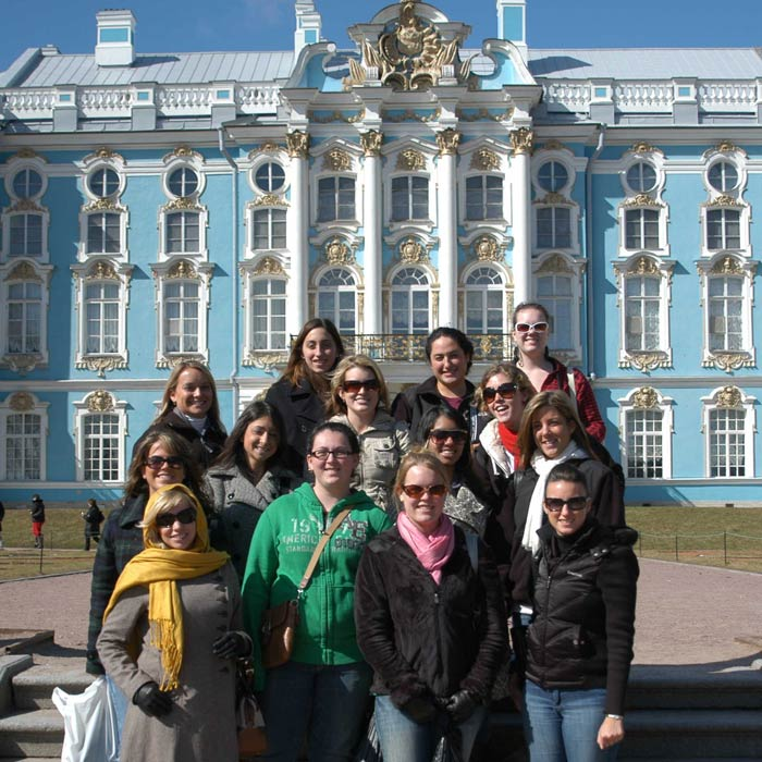 Student group in Russia