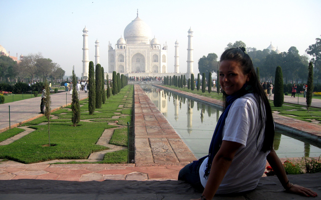 Student at the Taj Mahal