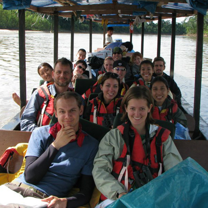 Student group on the Amazon River