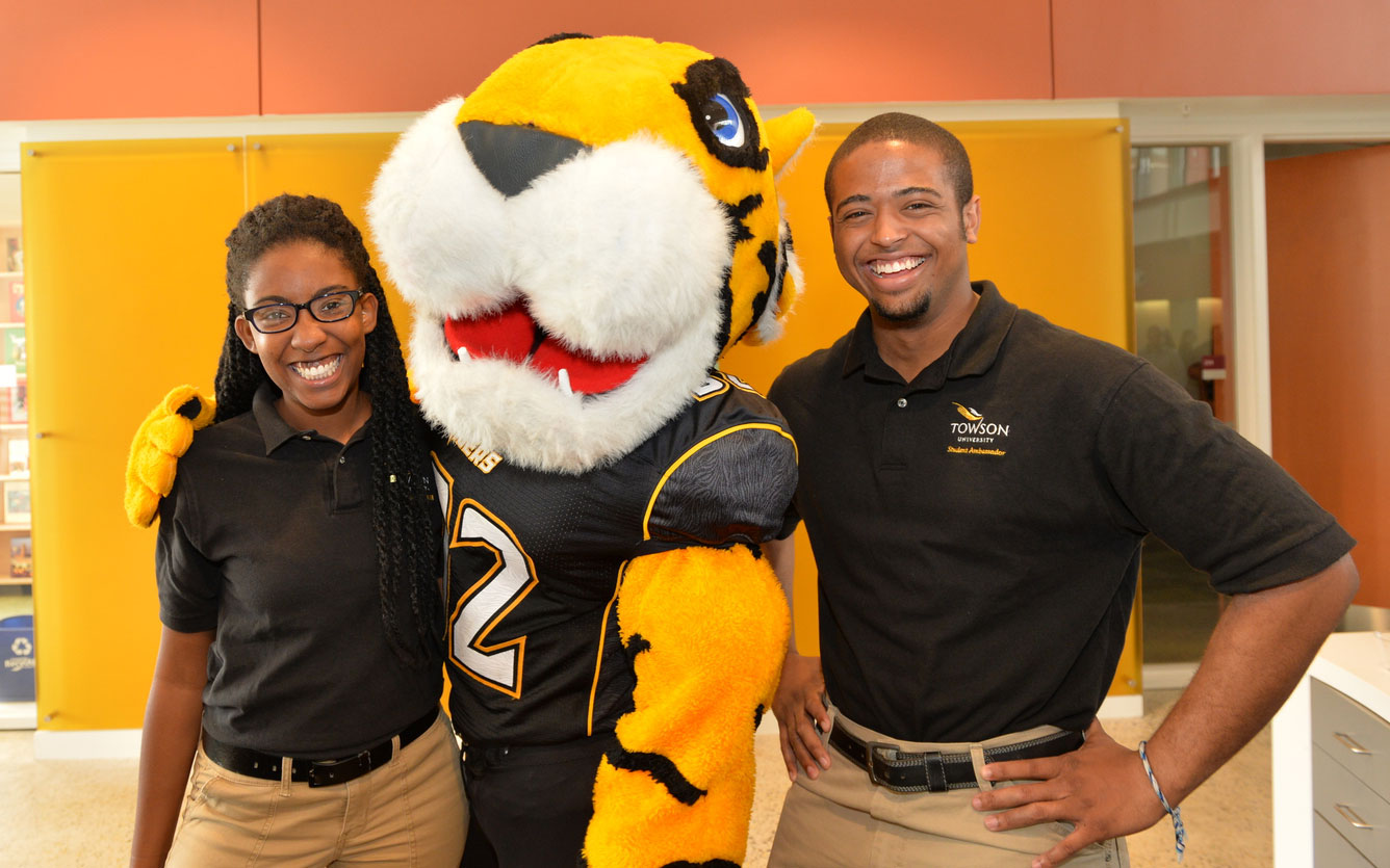 Towson students with their friend, Doc
