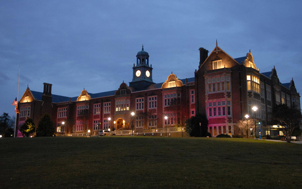 Stephens Hall at Night