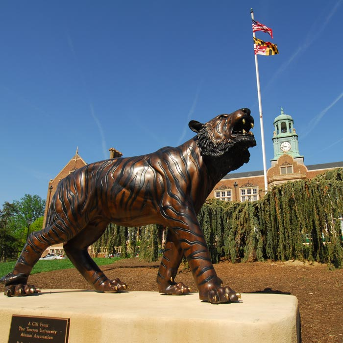 Tiger Statue Infront of Stephens Hall