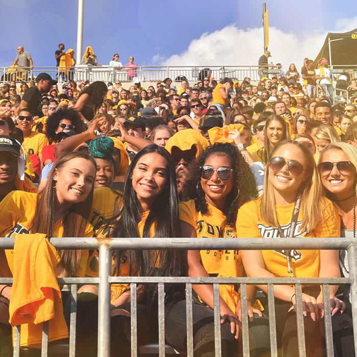 Students at Johnny Unitas Stadium
