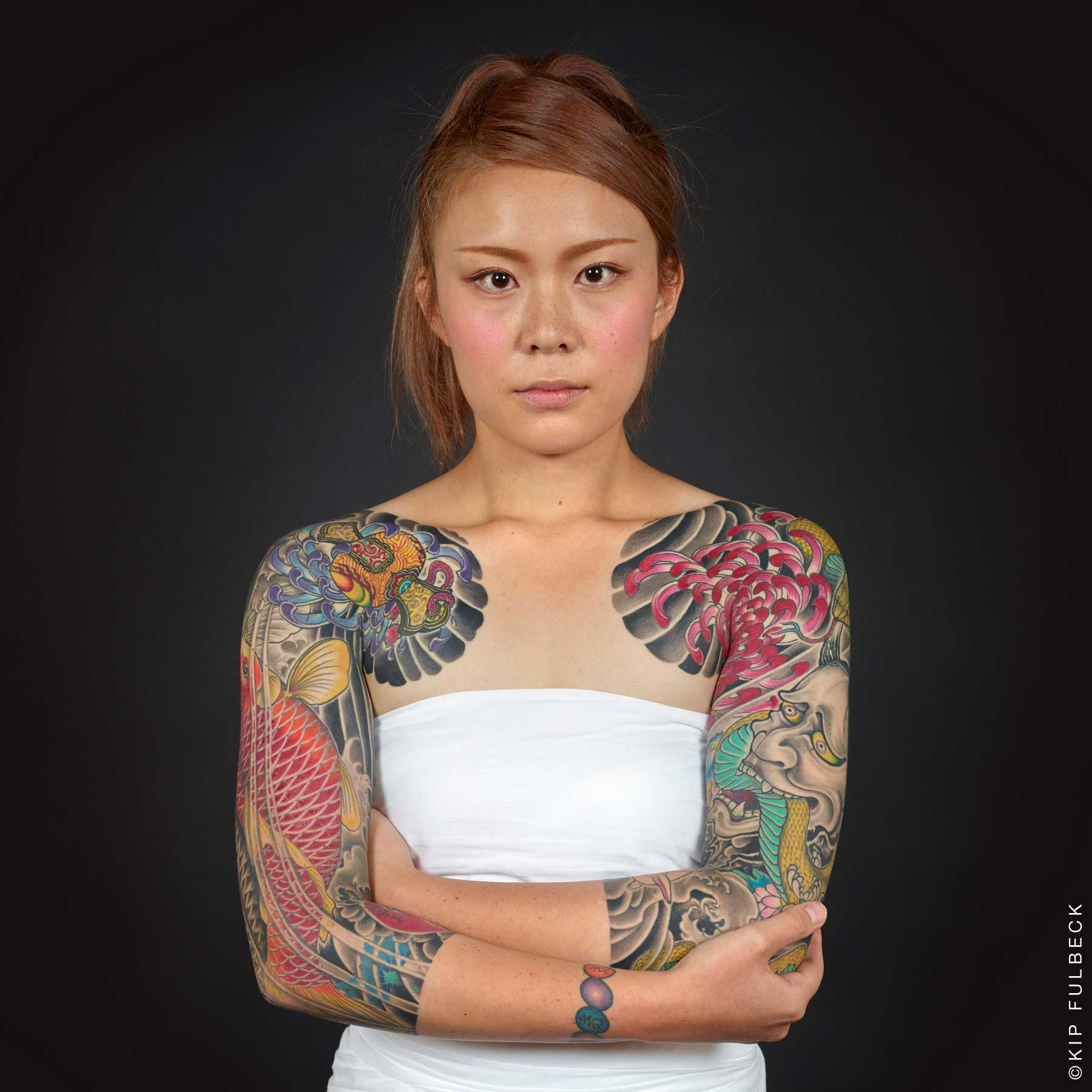 Tattoo by Horikiku; photo by Kip Fulbeck