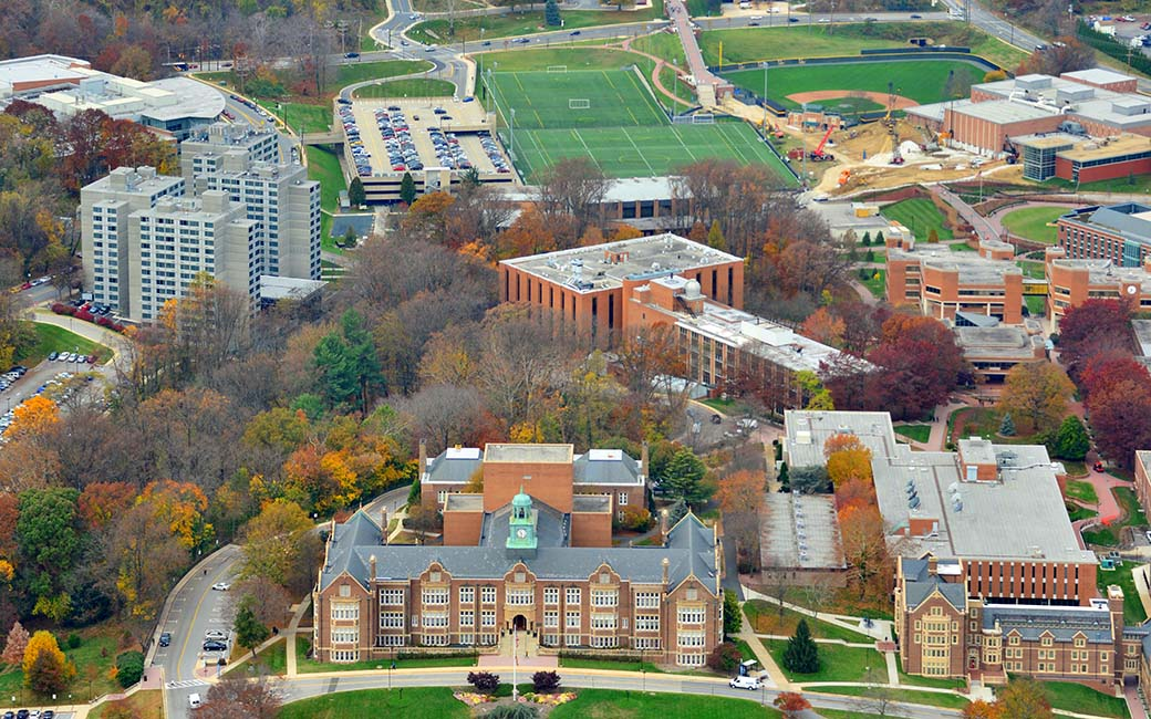 aerial view of whole campus