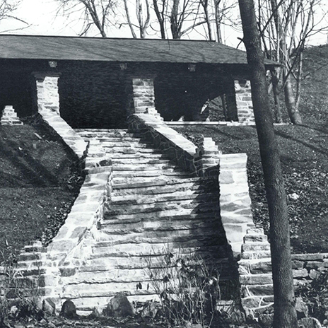 The pavilion in 1935.