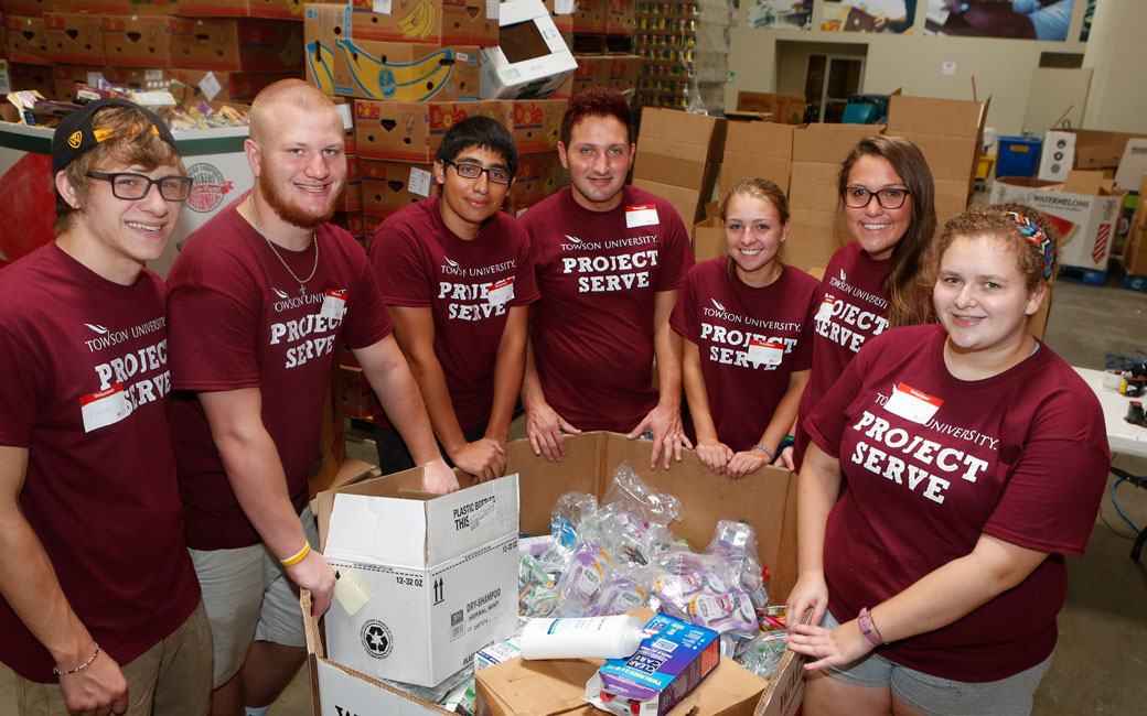 TU students involved with project serve