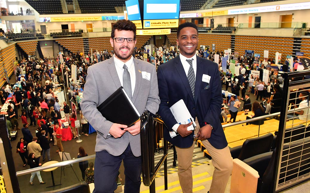 Two students at the Career Fair