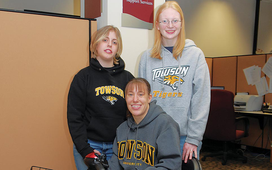 Students at the Disability Support Services office
