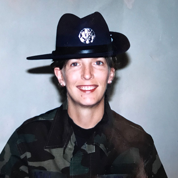 Amanda Mink in uniform
