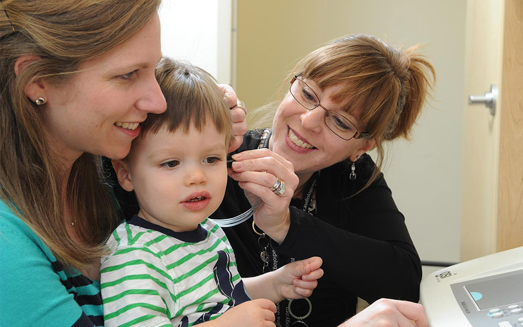 Audiology services being administered at our Hearing & Balance Center