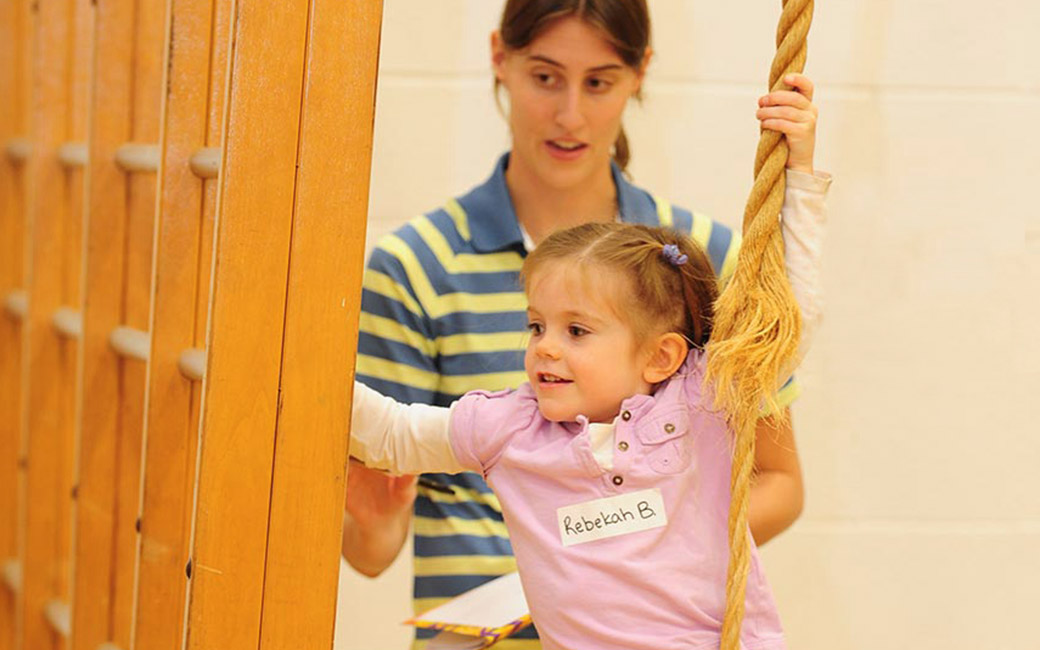 Students get children active with various wellness activities