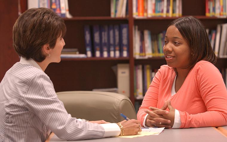 Student Being Interviewed