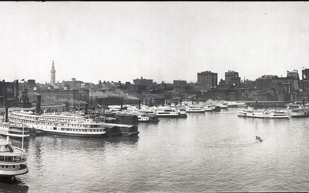 Baltimore harbor in the early 20th century