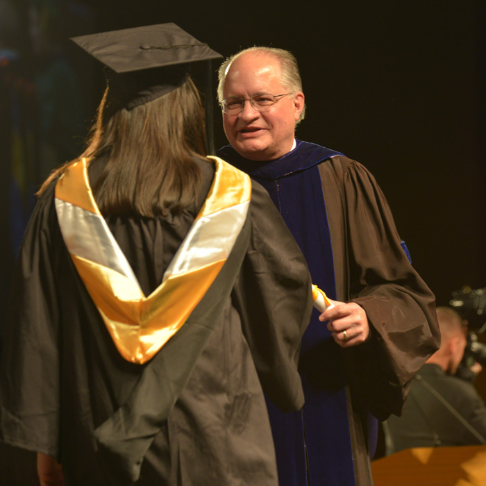 Dean Terry A. Cooney during Convocation