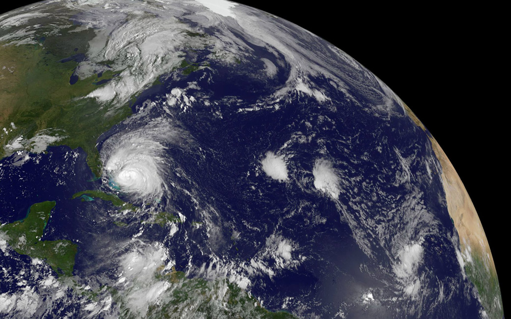 Image of Hurricane Irene as seen from space