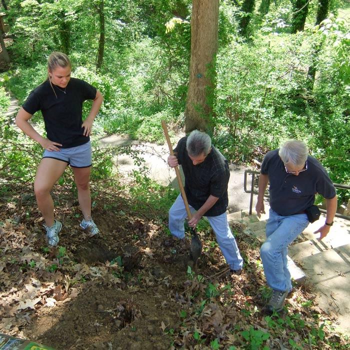 Tree Club members digging