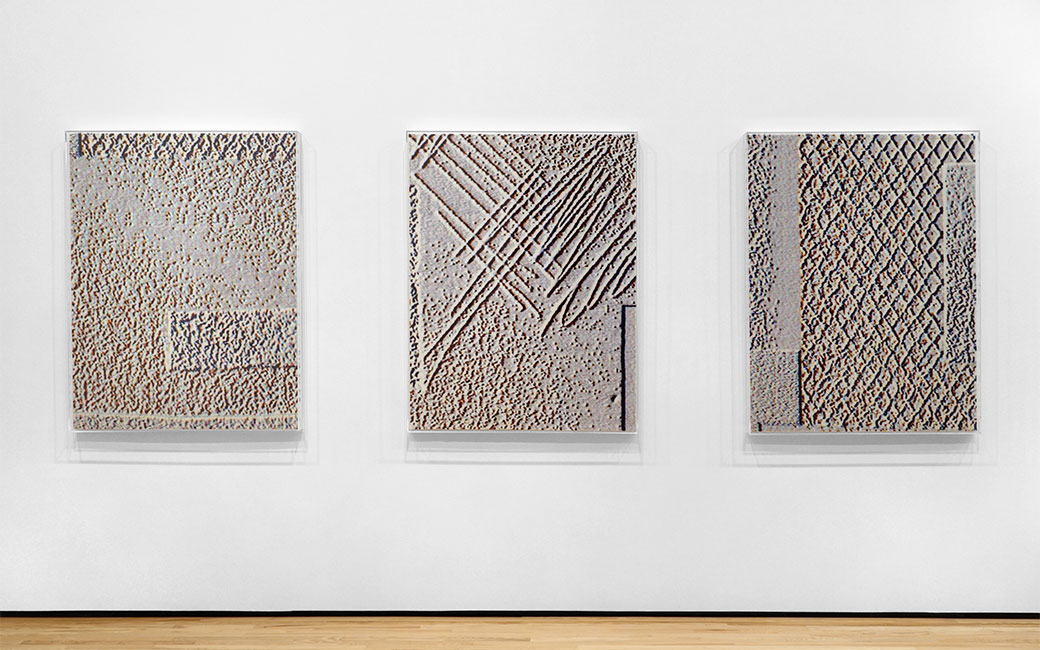 carpet trio 2 works by Seth Adelsberger