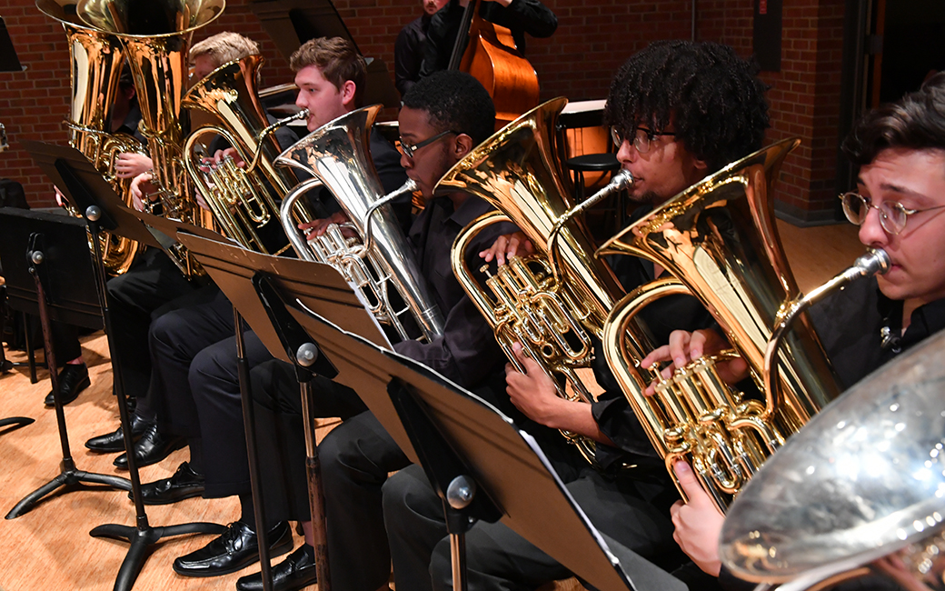 Brass Section of the Symphonic Band
