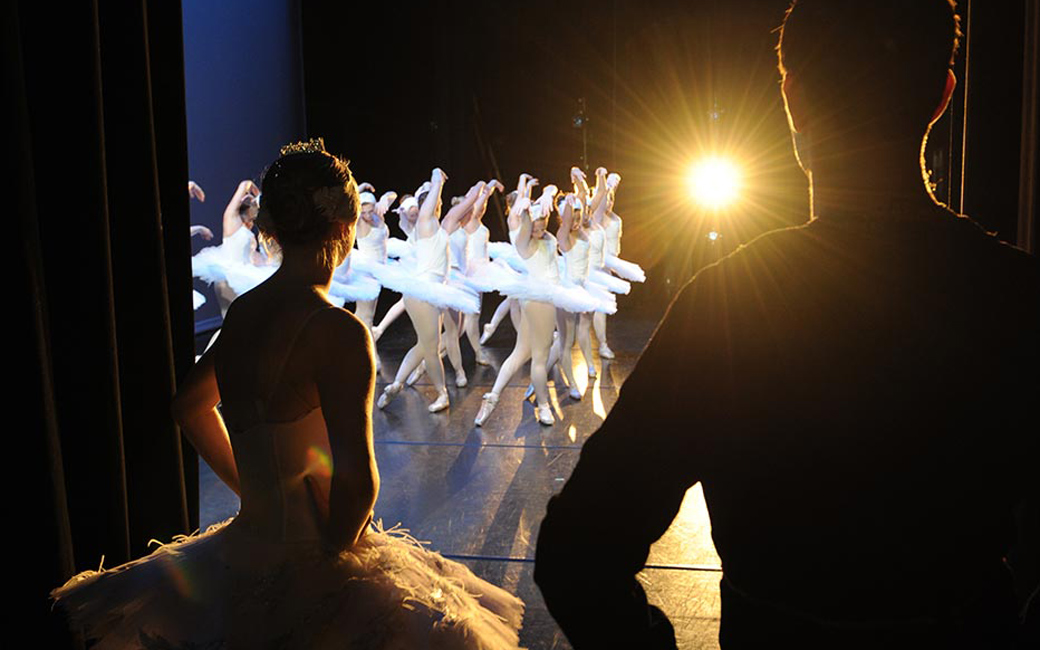 Dancers in performance.