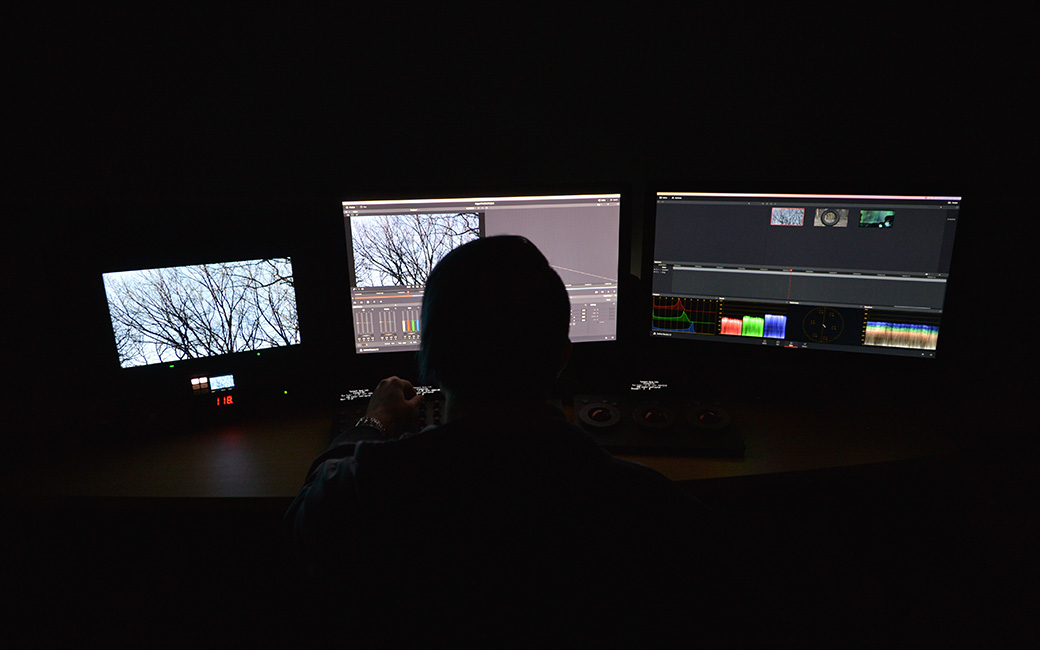 EMF Student in the Color Correction Lab