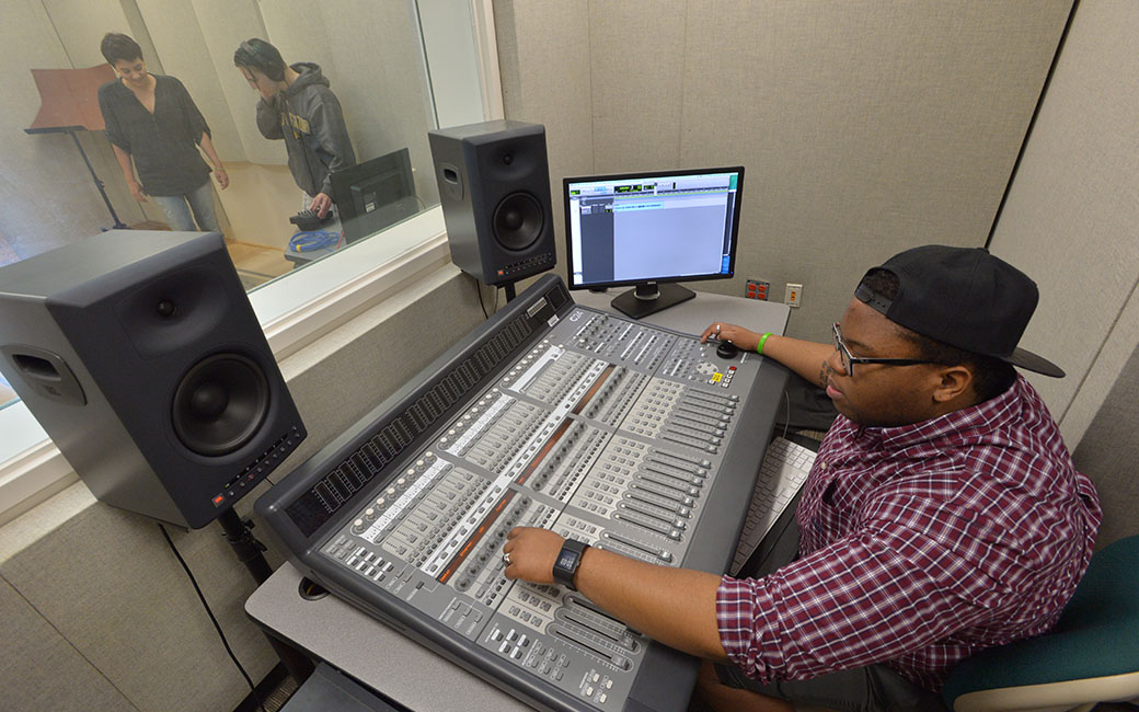 EMF Students in Recording Studio