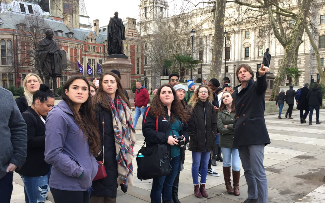 students in London for study abroad