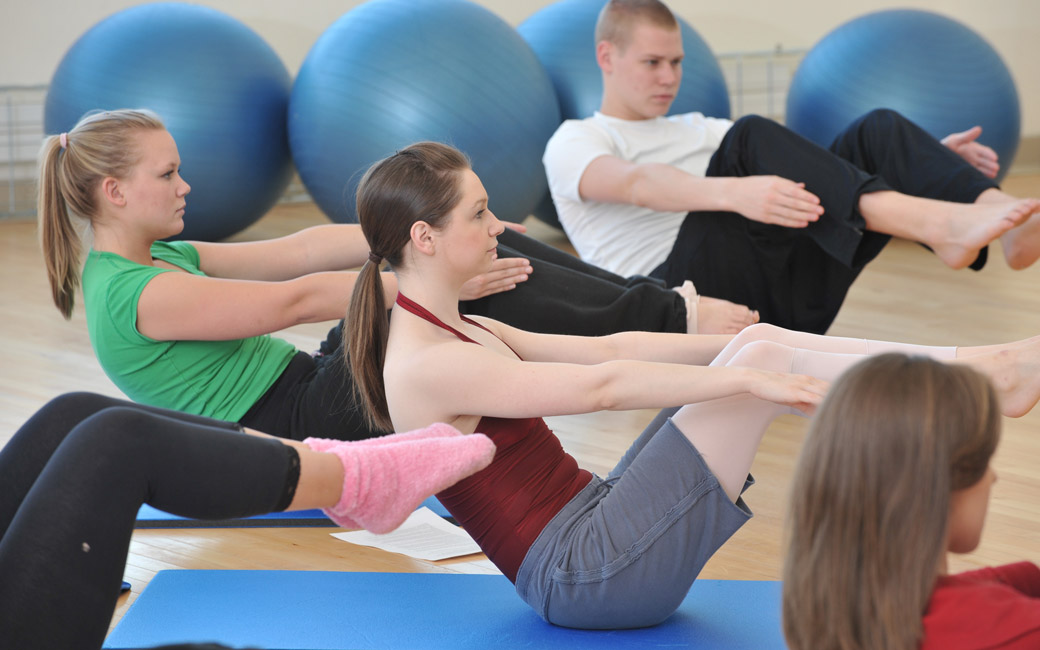 Student's in Movement Class