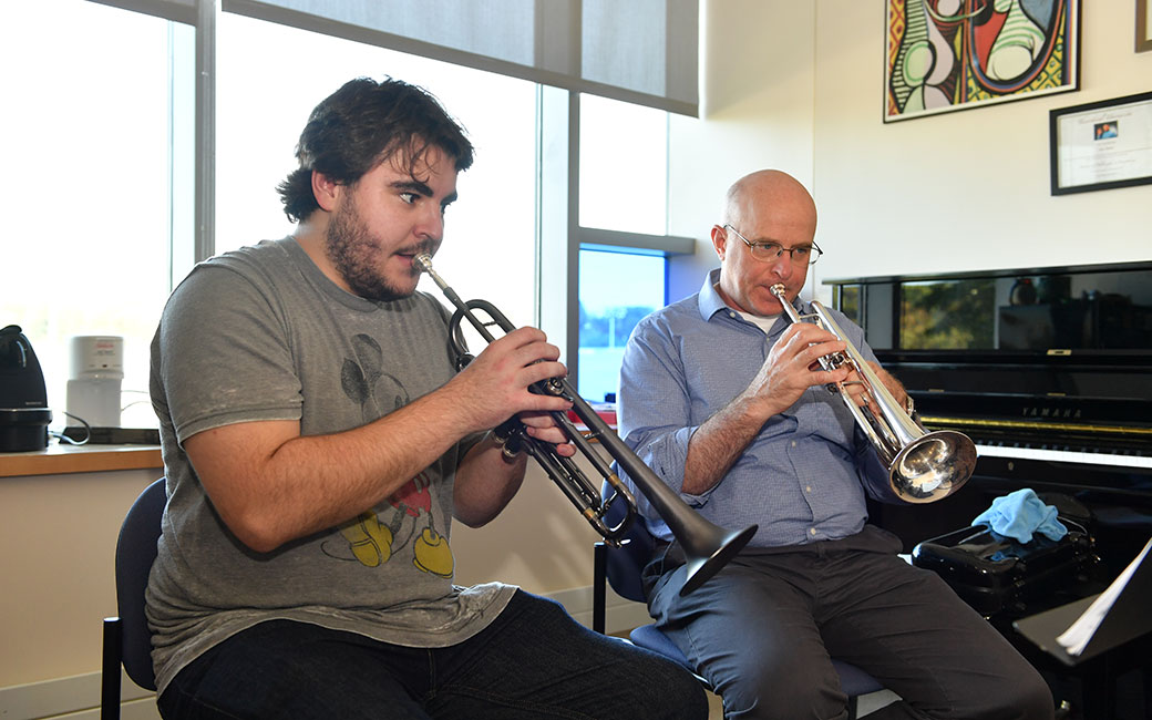Trumpet Lesson with Dave Ballou