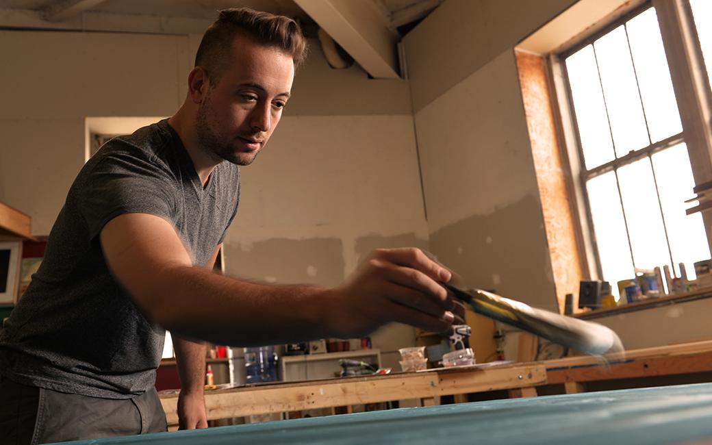 Seth Adelsberger in studio