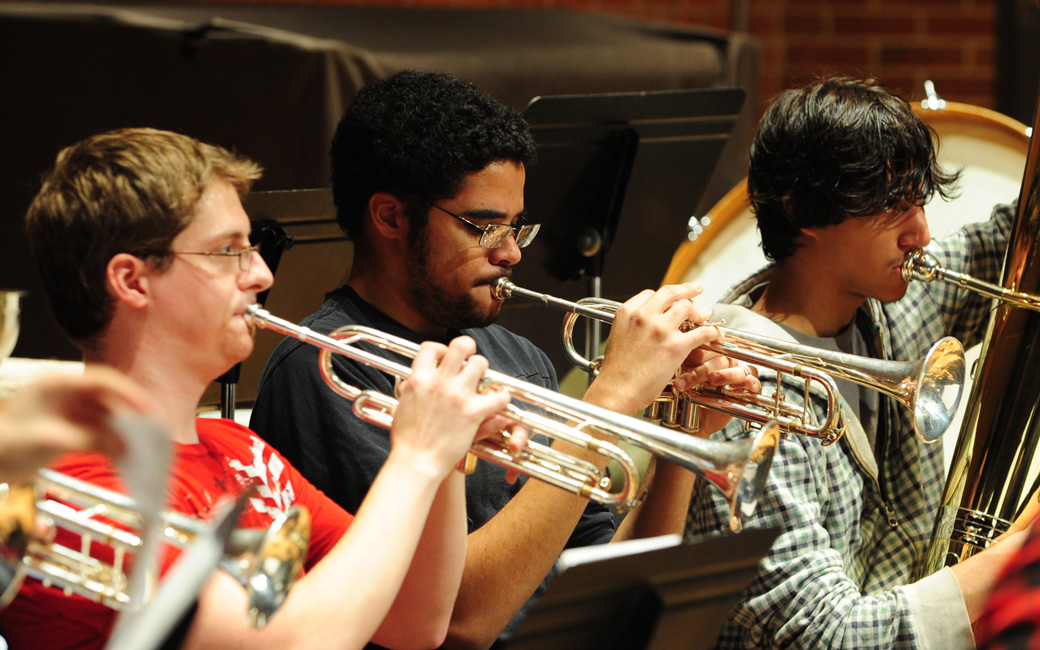 band students trumpets
