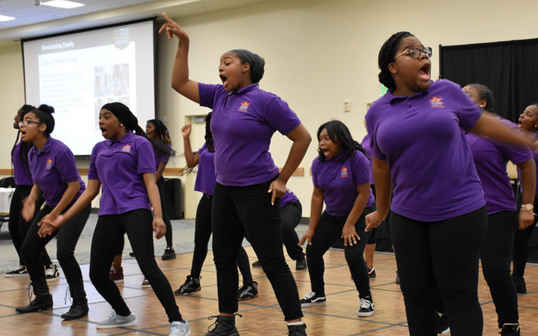 Baltimore Leadership School for Young Women step team