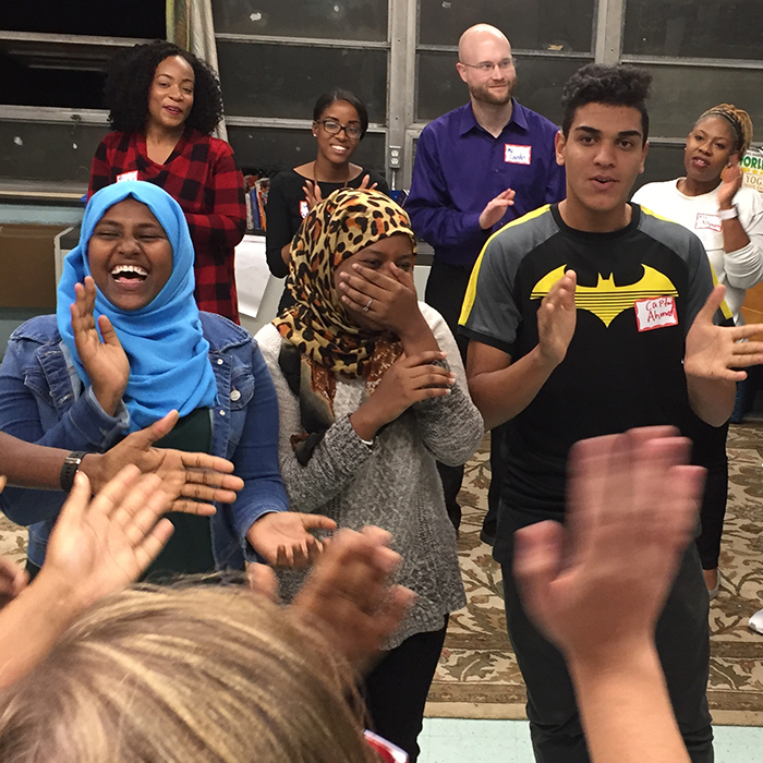 Refugee high school students in the YAAAS! program