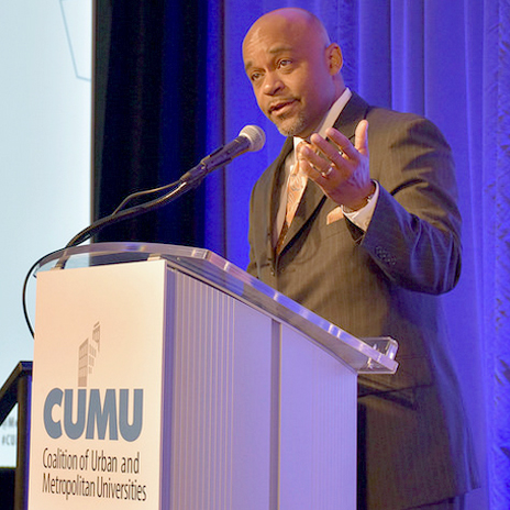 Michael B. Hancock, Mayor of Denver, speaking at the 2017 CUMU conference