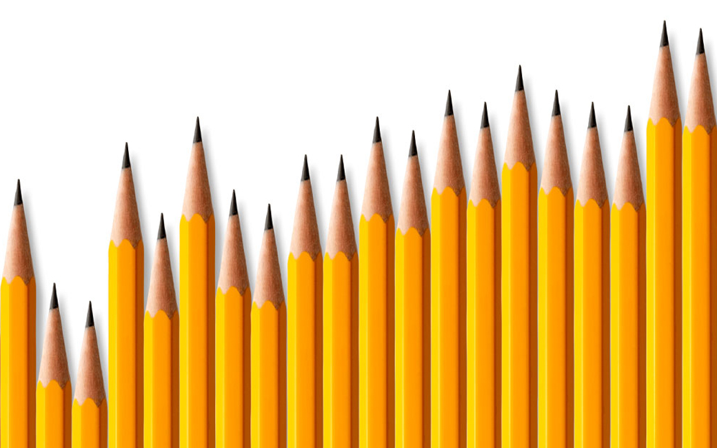 Graph made of pencils