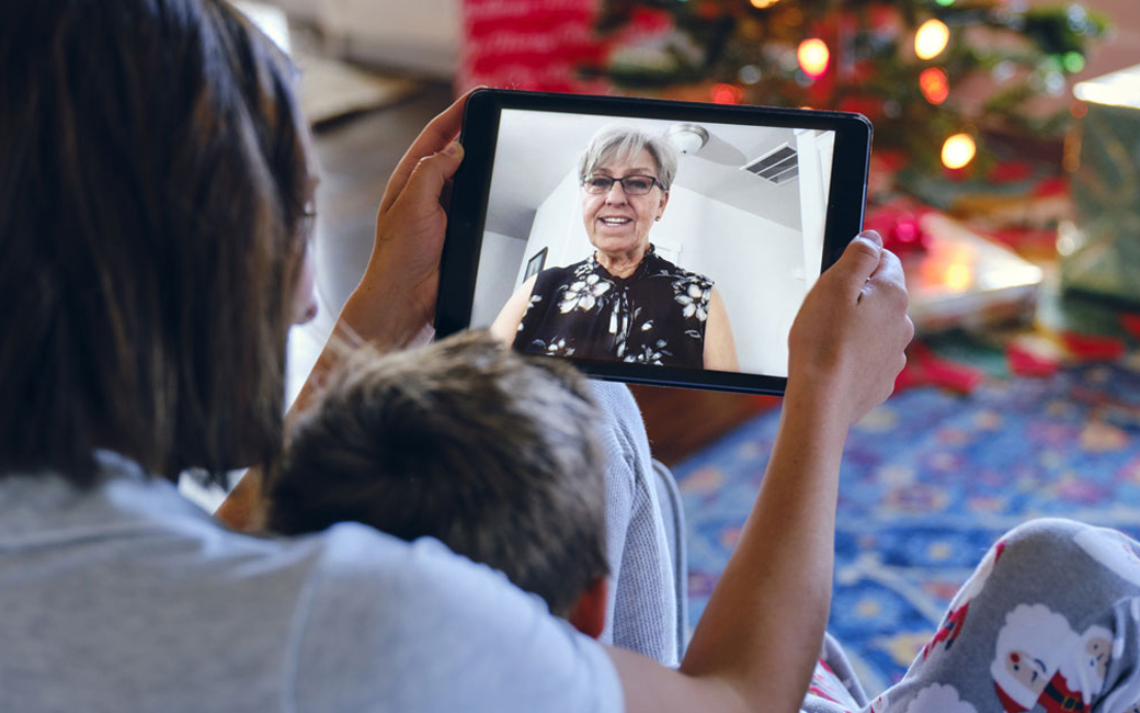 Holiday video call