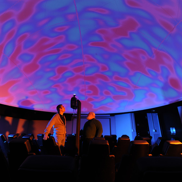 in the planetarium