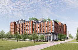 College of Health Professions building rendering