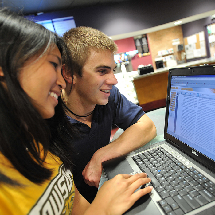 students viewing a website