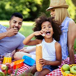 Image of family at picnic
