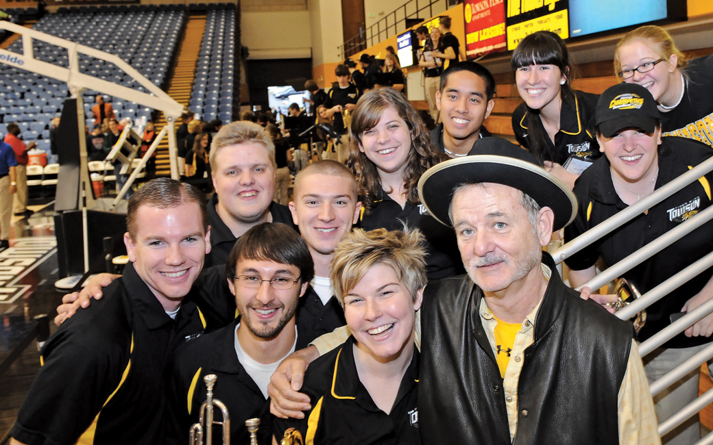 Bill Murray with TU students